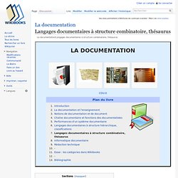 La documentation/Langages documentaires à structure combinatoire, thésaurus