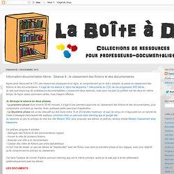 Information-documentation 6ème : Séance 4 - le classement des fictions et des documentaires