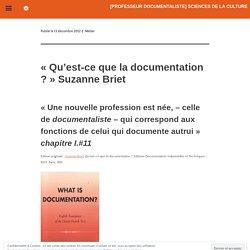 «[PROFESSEUR DOCUMENTALISTE] sciences de la culture