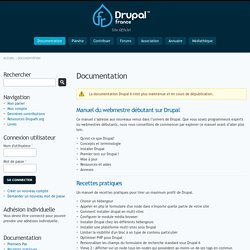Documentation | Communaut? Drupal France et francophonie