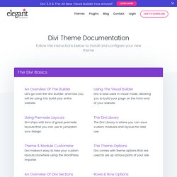 Divi Documentation