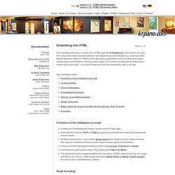 Documentation - Embedding into HTML