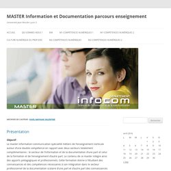 MasterMEEF Information et Documentation (V. Favel-Kapoian)
