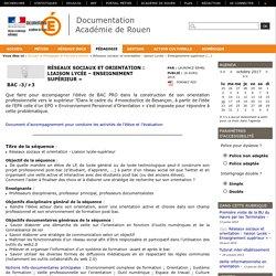 Réseaux sociaux et orientation : liaison Lycée – Enseignement supérieur »