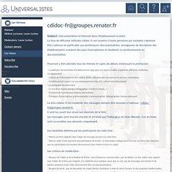 cdidoc-fr - Documentation et Internet dans l'établissement scola