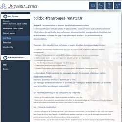 Documentation et Internet