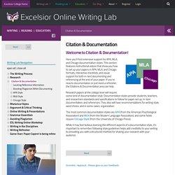 Citation & Documentation - Excelsior College OWL