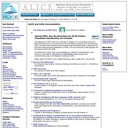 and AIML Documentation (A.L.I.C.E. AI Foundation)
