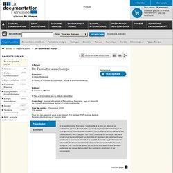 CONSEIL ECONOMIQUE ET SOCIAL - DEC 2009 - DE L'ASSIETTE AUX CHAMPS.