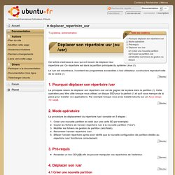 deplacer_repertoire_usr - Documentation Ubuntu Francophone