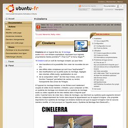 cinelerra - Documentation Ubuntu Francophone