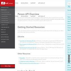 Person API Documentation - FullContact