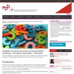 Quantifier et évaluer les accès à la documentation numérique : indicateurs et pincettes – 1ère partie