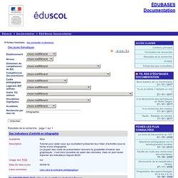 EDU'bases documentation - Formulaire de recherche et résultats pour : infographie
