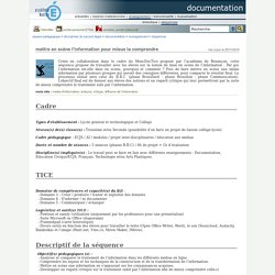 documentation - mettre en scène l'information pour mieux la comprendre