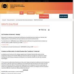 """DROITS D'AUTEUR / Documentation / Les """"essentiels"""" de la documentation / Irma : centre d'information et de ressources pour les musiques actuelles"""