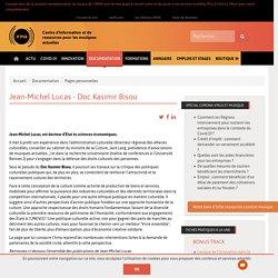IRMA Jean-Michel Lucas - Doc Kasimir Bisou / Documentation / Irma : centre d'information et de (...)