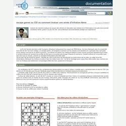 documentation - escape games au CDI ou comment évaluer une année d'initiation 6ème