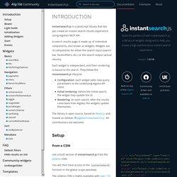 Documentation - instantsearch.js