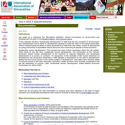 Documentation | International Association of Universities