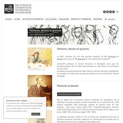 BDIC - Bibliothèque de documentation internationale contemporaine - Peintures, dessins et gravures