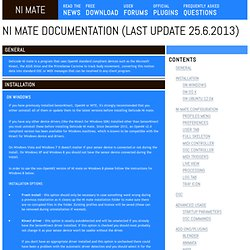 NI mate Documentation (last update 22.1.2012)