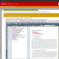 Documentation LaTeX / Texmaker