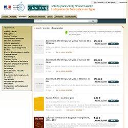FORMULAIRE SCÉRÉN : Librairie en ligne : Secondaire : Documentation