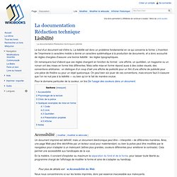 La documentation/Rédaction technique/Lisibilité