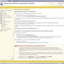 Documentation logicielle Opale - Stockage