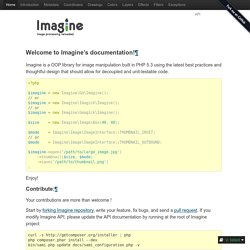 Welcome to Imagine's documentation! — Imagine, image manipulations reloaded