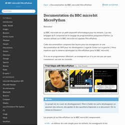 Documentation du BBC micro:bit MicroPython — Documentation BBC micro:bit MicroPython 0.5.0