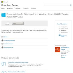 Download details: Documentation for Windows 7 and Windows Server 2008 R2 Service Pack 1 (KB976932)