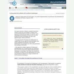 documentation - le document de collecte et la culture numérique