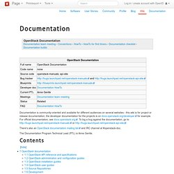 Documentation — OpenStack