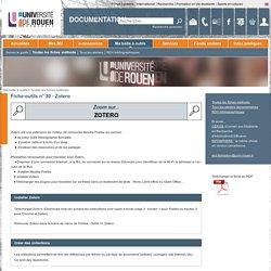 Documentation - Fiche-outils n° 30 - Zotero