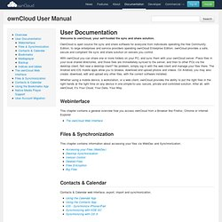 User Documentation — ownCloud User Manual 5.0 documentation