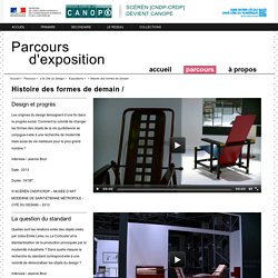 Histoire des formes de demain-Parcours d'exposition-Centre National de Documentation Pédagogique