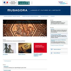 Musagora - Langues et cultures de l'Antiquité
