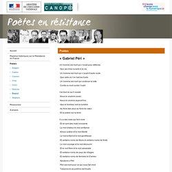 « Gabriel Péri » de Paul Éluard-Poètes en résistance-Centre National de Documentation Pédagogique
