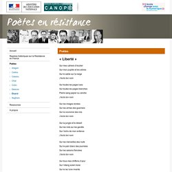 « Liberté » de Paul Éluard-Poètes en résistance-