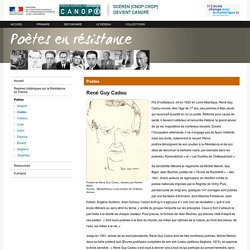 René Guy Cadou - Poètes en résistance - Centre National de Documentation Pédagogique