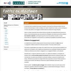 Accueil-Poètes en résistance-Centre National de Documentation Pédagogique