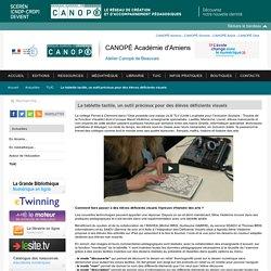 La tablette tactile, un outil précieux pour des élèves déficients visuels - Centre de documentation pédagogique de l'Oise
