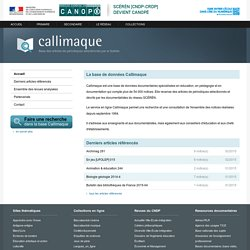 Callimaque - Centre National de Documentation Pédagogique