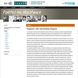 Fragment « 128 » des Feuillets d'Hypnos de René Char-Poètes en résistance-Centre National de Documentation Pédagogique