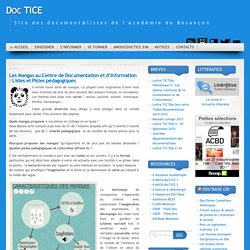 Les Mangas au Centre de Documentation et d'Information : Listes et Pistes pédagogiques