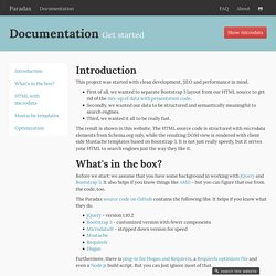 Documentation - Twitter Bootstrap SEO, microdata and performance