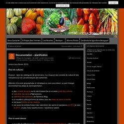 Documentation – planification – La ferme du hanneton