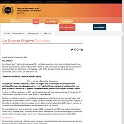 : Documentation : Fiches pratiques : LES ARTISTES : Les licences Creative Commons